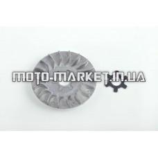 Щека вариатора неподвижная   2T Stels 50, Yamaha JOG 90  (алюминий, d-16, +ступица)  F-64
