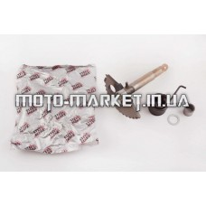 Сектор заводной (полумесяц)   4T GY6 125/150   (L-130mm)   (+пружина, втулка)   STEEL MARK