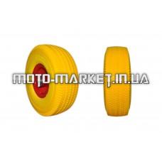 Колесо   4,00 -4   TL   (бескамерное, под ось d-20мм)   (силикон, желтое)   ELIT