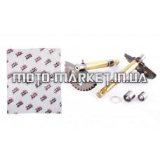 Сектор заводной (полумесяц)   4T GY6 125/150   (L-129mm)   (+втулки)   MANLE