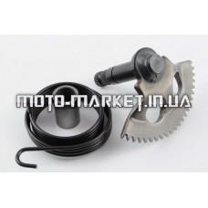 Сектор заводной (полумесяц)   Yamaha JOG 90, 2T Stels 50   (+пружина, втулка)   STEEL MARK