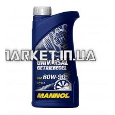 Масло трансмиссионное, 1л   (80W-90, Universal Getriebeoel API GL 4)   MANNOL