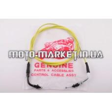 Трос газа   4T GY6 50   (гайка-гайка)   (1900mm, уп.1шт, желтый)