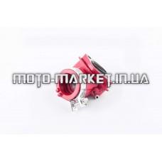 Патрубок карбюратора (коллектор)   4T GY6 125/150   (силиконовый, красный)   F-429