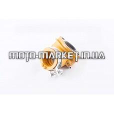 Патрубок карбюратора (коллектор)   4T GY6 125/150   (силиконовый, желтый)   F-429