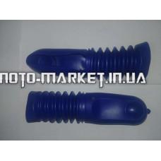 Гофры передней вилки (пара)   Yamaha JOG   (барабан, синие)   RG