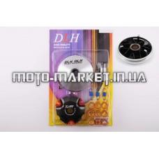 Вариатор передний (тюнинг)   4T GY6 50 light   (ролики латунь 9шт, палец, пружины сцепления)   DLH