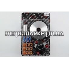Вариатор передний (тюнинг)   4T GY6 50   (ролики латунь 9шт, палец, пруж. сцепления)   RMS