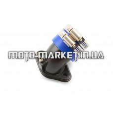 Патрубок карбюратора (коллектор)   4T GY6 50   (железный, синий)   YAOXIN