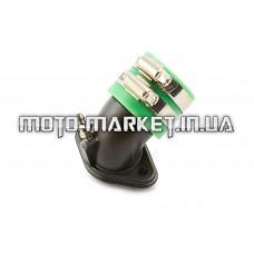 Патрубок карбюратора (коллектор)   4T GY6 50   (железный, зеленый)   YAOXIN