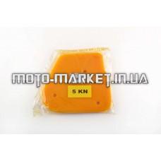 Элемент воздушного фильтра   Yamaha JOG 5KN   (поролон с пропиткой)   (желтый)   AS