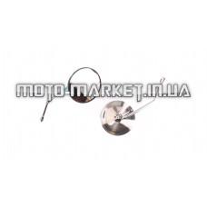 Зеркала   Alpha   (круглые, хром, d-10mm)   KOMATCU   (mod.A)
