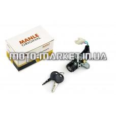 Замок зажигания (голый)   Honda DIO Live AF34/35   (с косым креплением, 3 провода)   MANLE   mod B