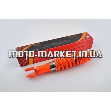 Амортизатор   GY6, DIO, LEAD   280mm, регулируемый   (оранжевый +паутина)   NDT