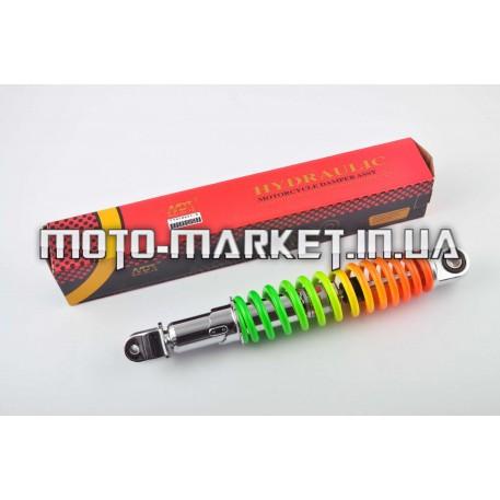 Амортизатор   GY6, DIO ZX, LEAD   310mm, регулируемый   (радуга)   NDT
