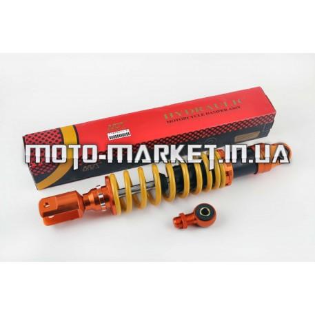 Амортизатор универсальный (+ переходник)   350mm, тюнинговый   (оранжево-желтый)   NDT