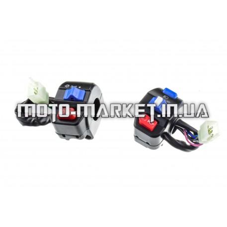 Блоки кнопок руля (пара)   4T GY6 50   (диск/диск)   KOMATCU   (mod.A)