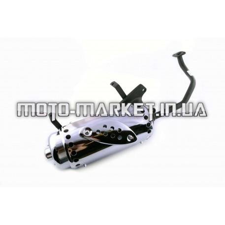 Глушитель   4T GY6 125/150   (+колено под 12)   (черный)   EVO