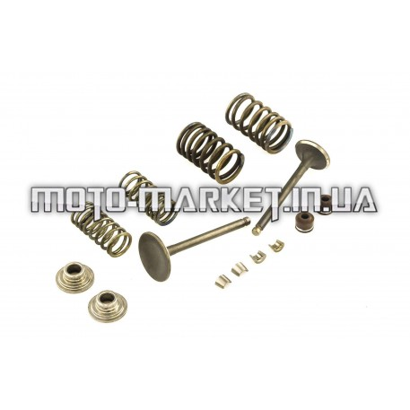 Клапаны (пара, в сборе)   4T GY6 150   (L-66mm)