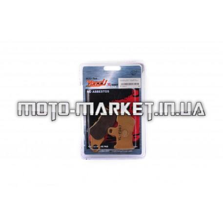 Колодки тормозные (диск)   Yamaha JOG SA12   (желтые)   YONGLI PRO