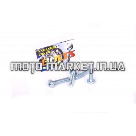 Болты крышки вариатора   Suzuki LETS   (крестообразный шлиц, 4шт)   AS