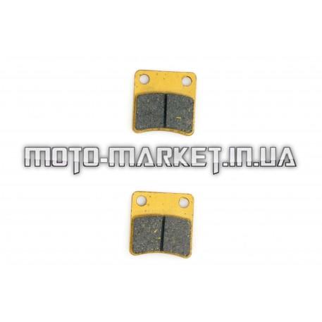 Колодки тормозные (диск)   Zongshen WIND/GY50-80   (желтые)