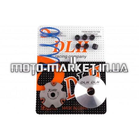 Вариатор передний (тюнинг)   Honda DIO AF27   (+палец, ролики 6шт, пружина торкдрайвера)   DLH