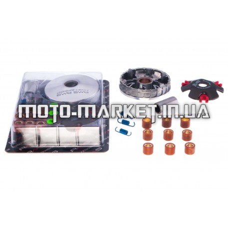 Вариатор передний (тюнинг)   Honda DIO AF27   (ролики латунь 9шт, палец, пруж. сцепления)   RMS