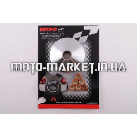 Вариатор передний (тюнинг)   Honda DIO AF27   (медно-граф. втулка, ролики латунь)   KOSO