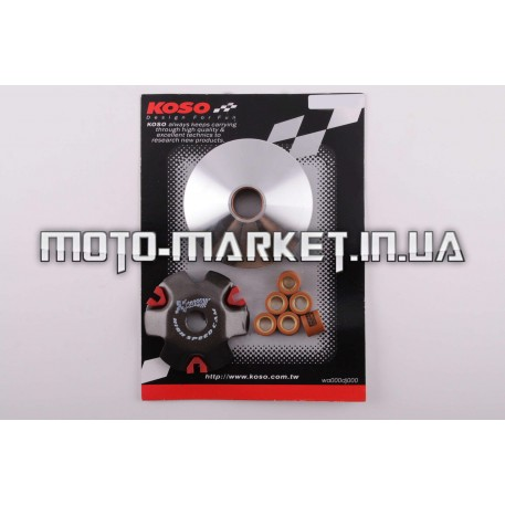 Вариатор передний (тюнинг)   Honda DIO AF34   (медно-граф. втулка, ролики латунь)   KOSO